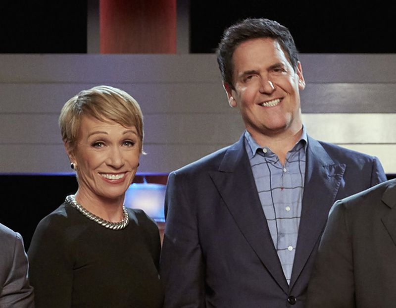 "Barbara Corcoran and Mark Cuban of ABC's ""Shark Tank"